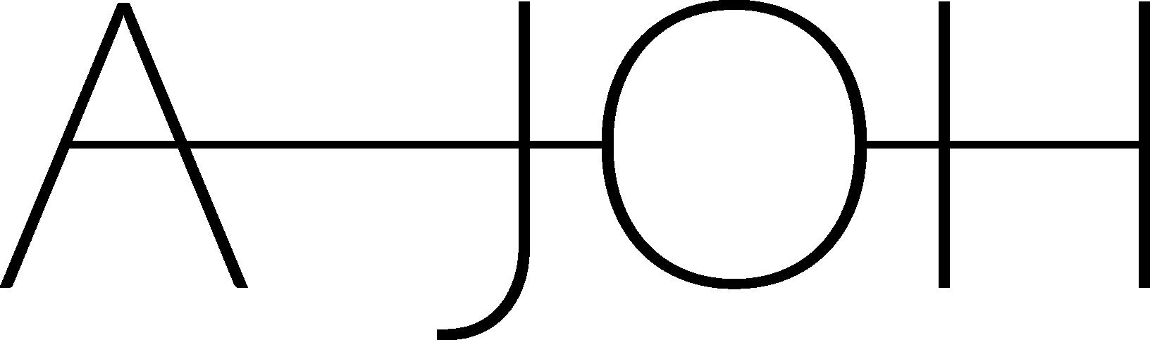 AJOH logotyp för designer i stockholm