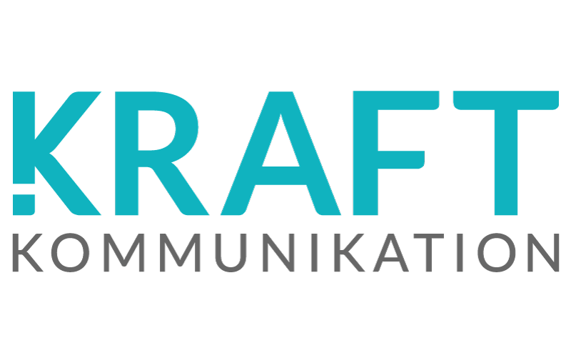 Kraft Kommunikation blå design logotyp