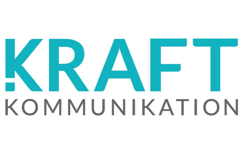 Kraft Kommunikation blå design logotyp